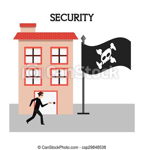sistema segurança - csp29848538