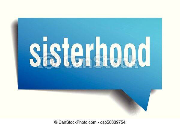 sisterhood blue 3d speech bubble - csp56839754