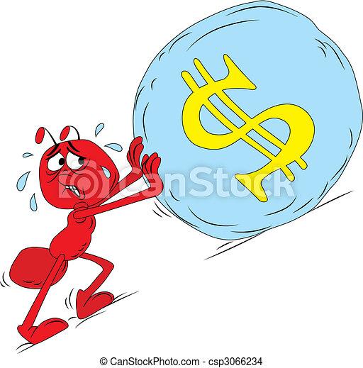 Sisyphus red ant - csp3066234