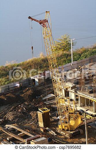 site., above., construction, vue - csp7695682