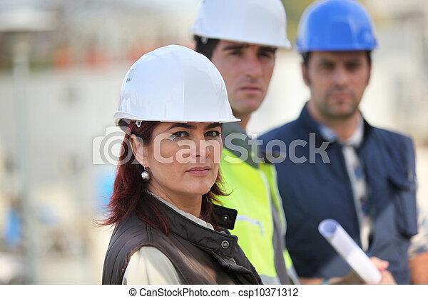 site construction, équipe - csp10371312