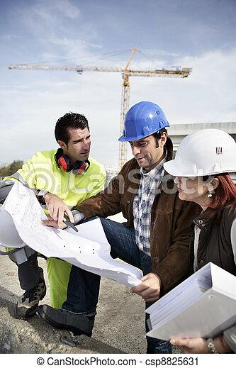 site construction, équipe - csp8825631