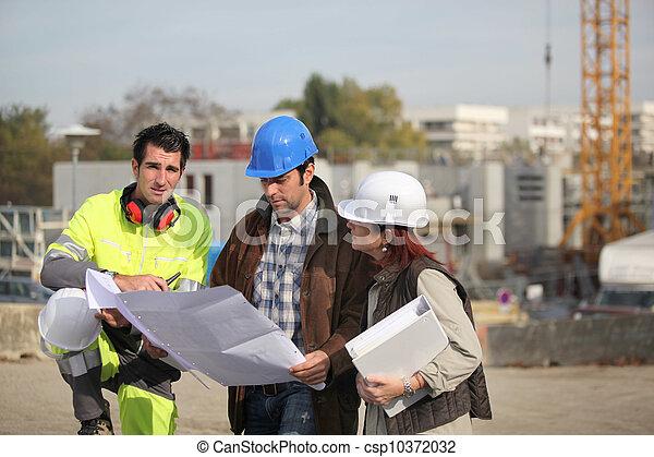 site construction, équipe - csp10372032