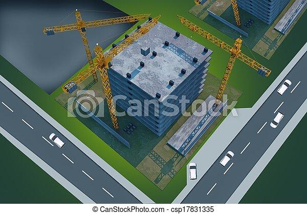 site construction, au-dessus - csp17831335