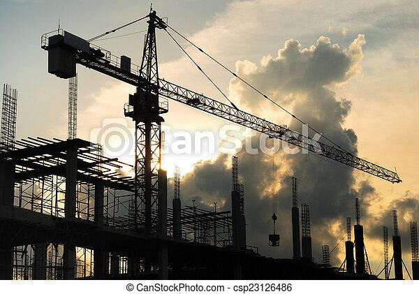 site construction - csp23126486