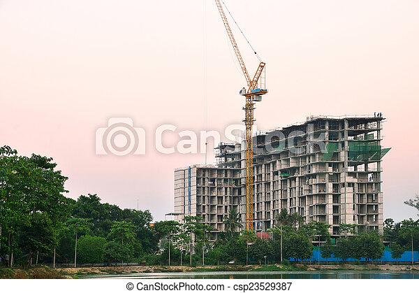 site construction - csp23529387