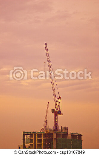 site construction - csp13107849