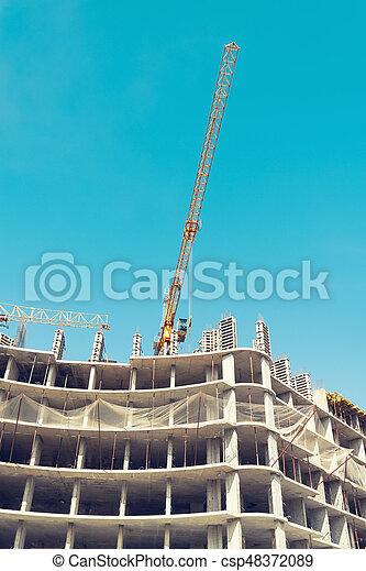 site., construction, vue - csp48372089