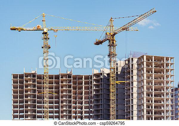 site., construction, vue - csp59264795