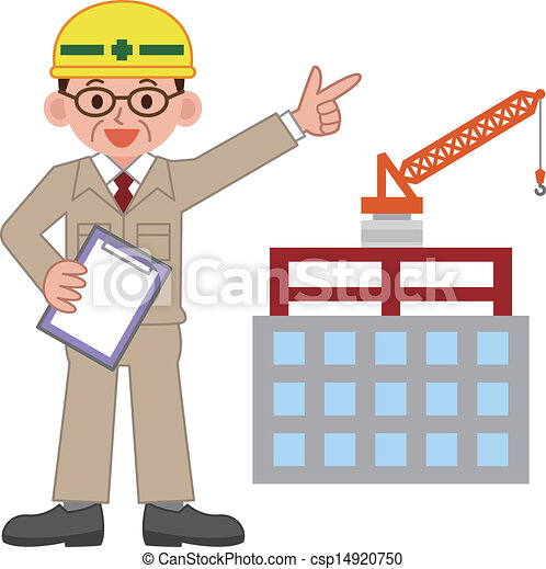 Clipart Vector of Site supervisor csp14920750 - Search ...