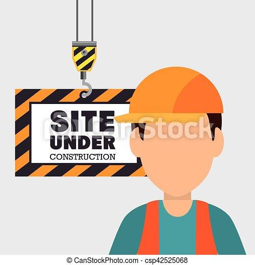 site under construction icon - csp42525068