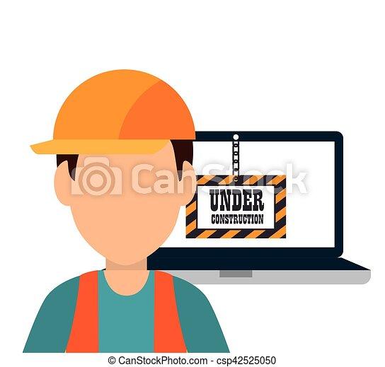 site under construction icon - csp42525050