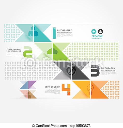 site web, être, style, utilisé, disposition, .graphic, moderne, infographic, vecteur, conception, template.can, infographics, ou, minimal - csp19593673