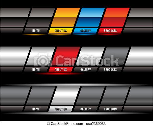 site web, boutons, editable - csp2369083