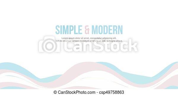site web, cabeçalho, abstratos, cobrança, onda - csp49758863