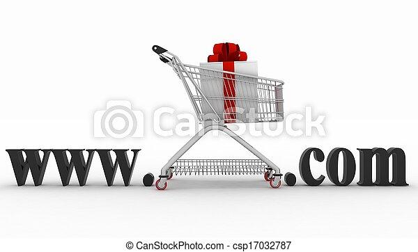 site web, concept, e-affaires, visiter - csp17032787
