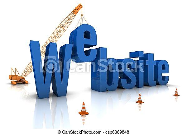 site web, construção, sob - csp6369848