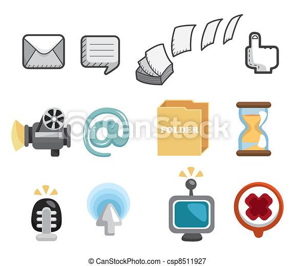 site web, ensemble, &, icônes, icônes, icônes, internet - csp8511927