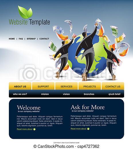 site web, gabarit - csp4727362