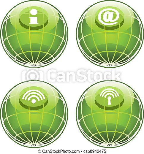 site web, icônes internet - csp8942475