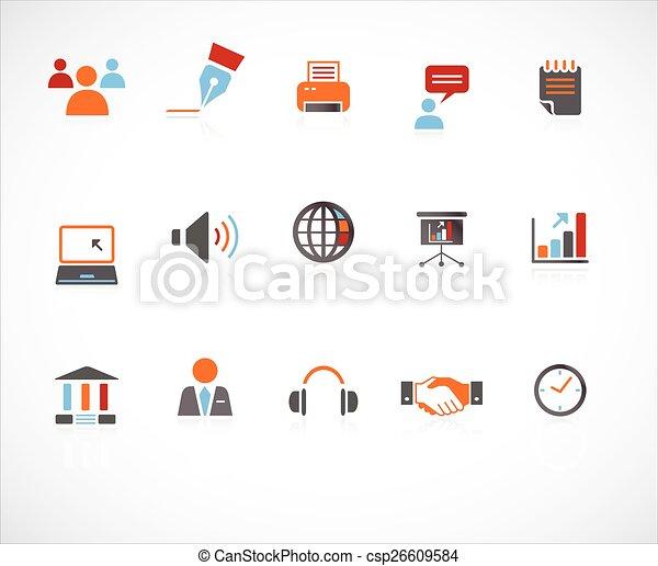 site web, &, icônes internet - csp26609584