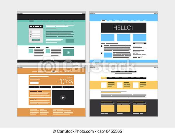 site web, plat, résumé, ensemble - csp18455565