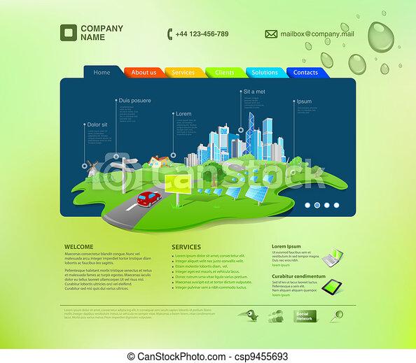 site web, template., infographics - csp9455693
