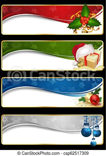 Estandarte de la web de Navidad - csp62517309