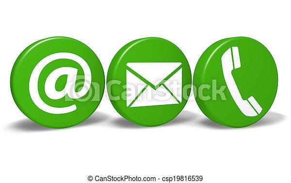 Contacto website iconos verdes - csp19816539