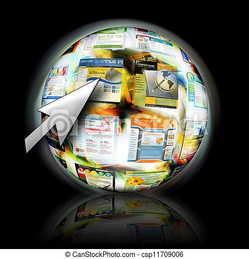 sitio web, cursor, búsqueda, flecha, internet - csp11709006