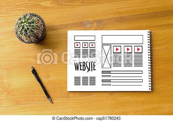 Diseñador web de diseño de diseño de bocetos de software WWWW y proyecto de desarrollo de páginas gráficas - csp51780243