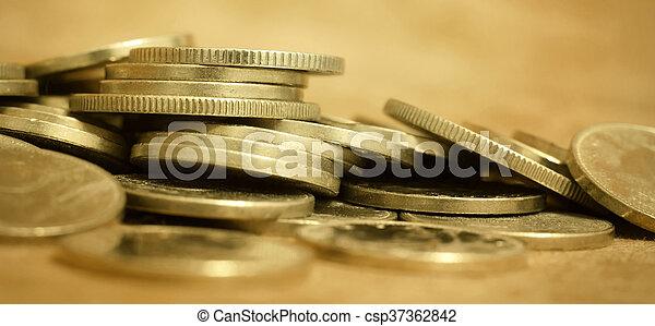 Pancarta web de dinero - csp37362842