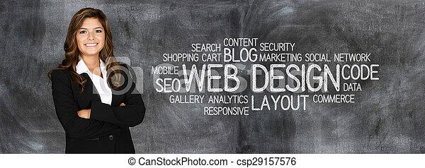 Diseñador de sitios web - csp29157576