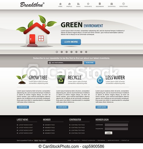 El elemento web de diseño en Internet se templa - csp5900586