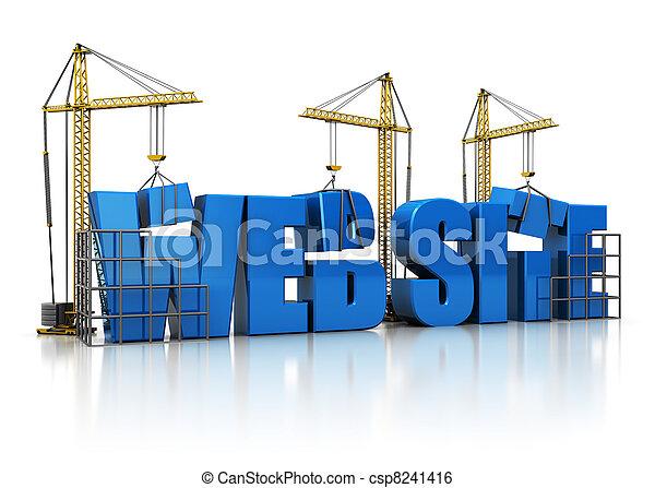 sitio web, edificio - csp8241416