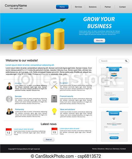 sitio web, empresa / negocio, plantilla - csp6813572
