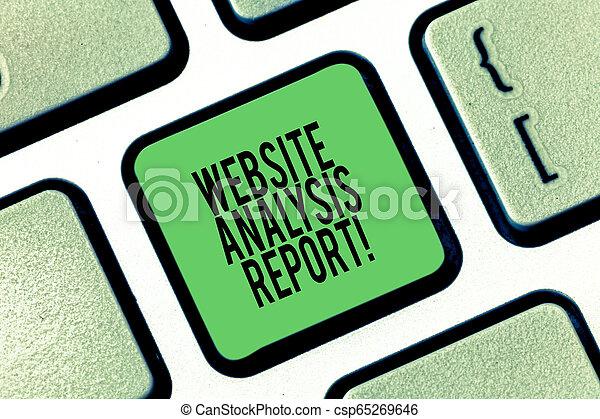 Análisis de análisis de páginas web. Foto de negocios que muestra el Proceso de Estudiar el comportamiento de los visitantes de la web Intención de Teclado para crear una idea de mensaje informático. - csp65269646