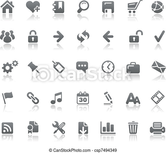 sito web, //, basi, &, icone, internet - csp7494349