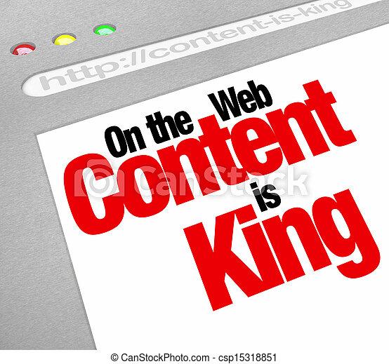 sito web, re, articoli, schermo, contenuto, traffico, fe, aumento, più - csp15318851
