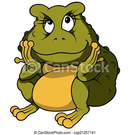 Sitting Frog - csp21257141