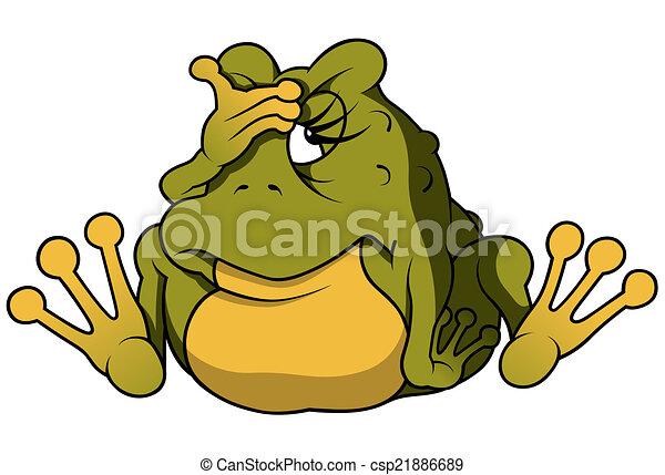 Sitting Frog - csp21886689