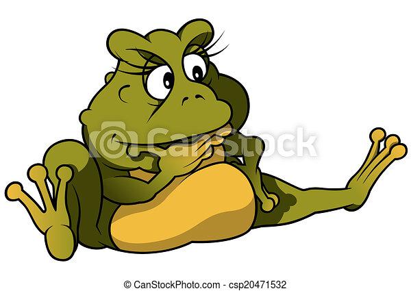 Sitting Frog - csp20471532