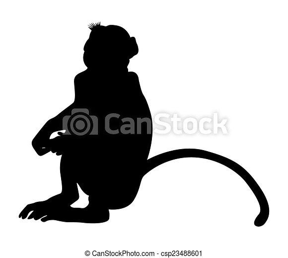 sitting monkey shape csp23488601