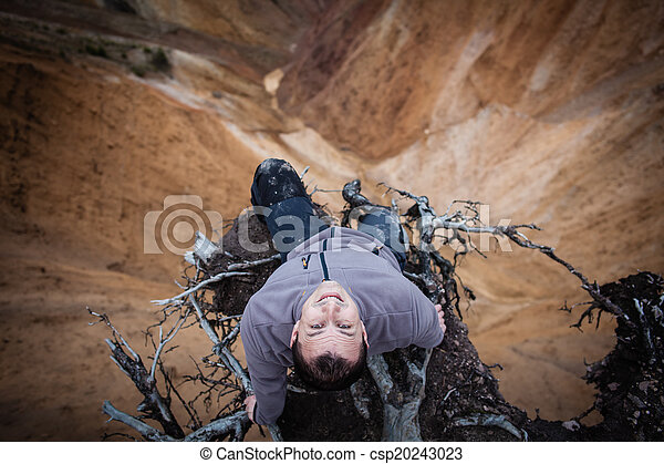 Sitting on the edge of a cliff - csp20243023
