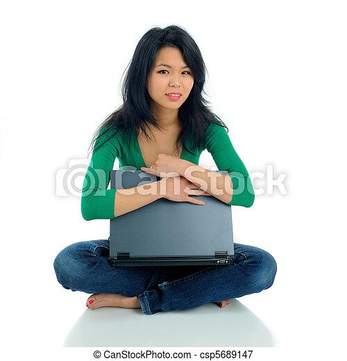 Sitting - csp5689147