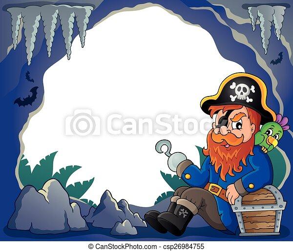 Sitting pirate theme image 4 - csp26984755
