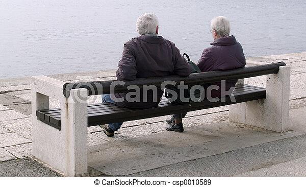 Sitting quietly - csp0010589