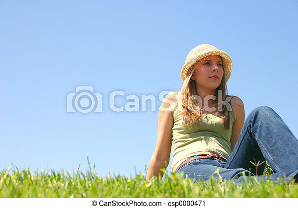 Sitting Woman - csp0000471