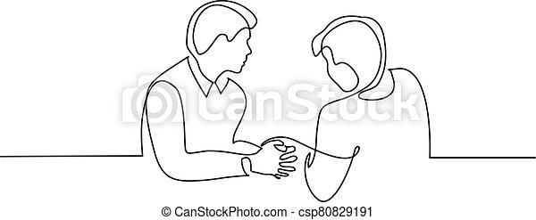 situação, amigos, difícil, discutir, macho, dois, vida - csp80829191