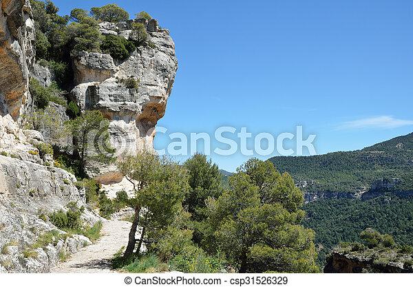 Siurana cliffs in the Prades mountains - csp31526329